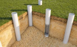 Опалубка пластиковых колонн круглого сечения