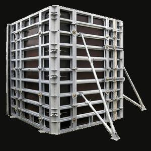 Опалубка для стен, фундаментов. Стеновые щиты