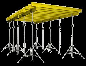 Сборная конструкция опалубки перекрытий