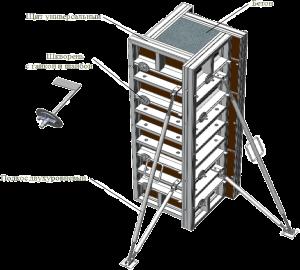 Цена комплекта опалубки колонн - от 6500 руб/мес